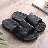 Nwarmsouth Zapatillas de Masaje para Hombres, Sandalias de baño Antideslizantes, Zapatillas de Masaje para baño-Black_38-39, Suelas de Espuma Gruesa