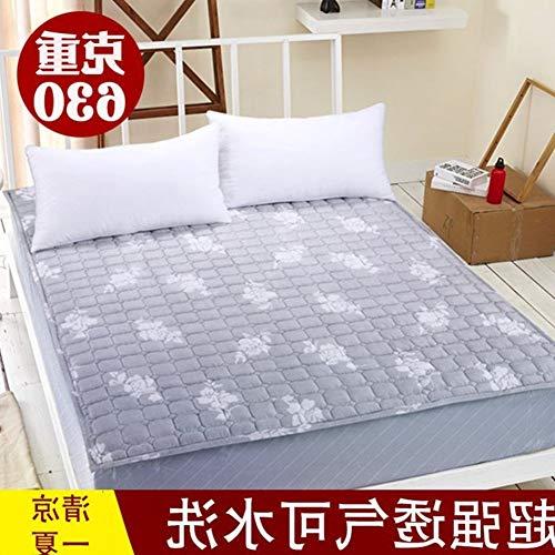 YLCJ Draagbare matras met gewatteerde hoofd, vochtbestendig, 180 x 200 cm, 71 x 79 cm