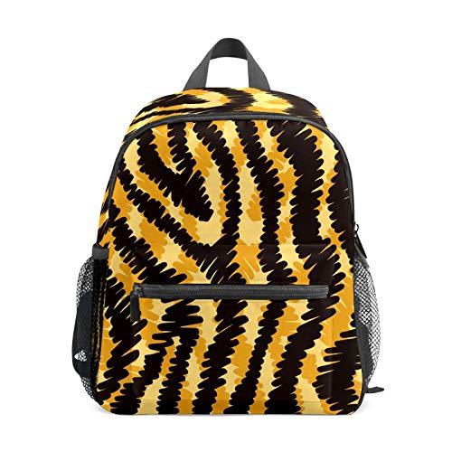 Mochila infantil para niños de 1 a 6 años de edad, mochila perfecta para niños y niñas de 1 a 6 años, piel de tigre negra y naranja