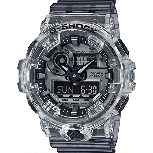 Casio Unisex Digital Quarz Uhr mit Kautschuk Armband GA-700SK-1AER