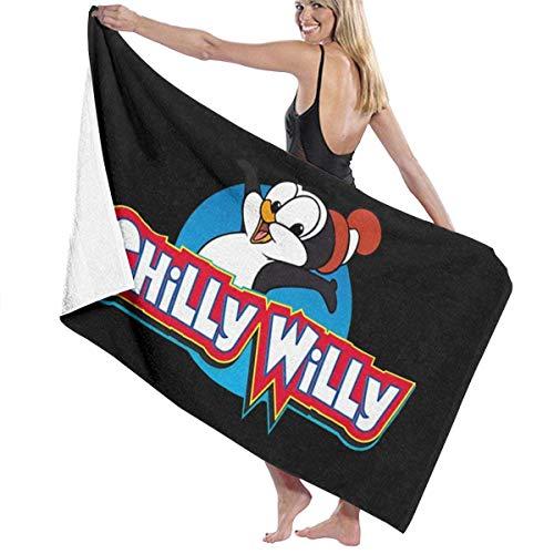 MasakoJMassie Chilly Willy Pingüino Toalla Unisex Ligero Quicky Dry Microfibra Toalla de Playa Toalla