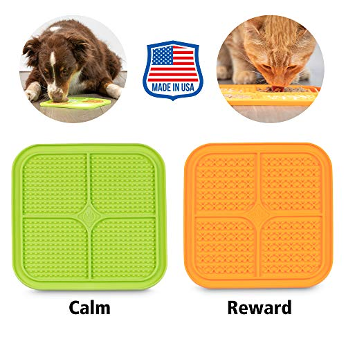 Cat feeder for wet food - Hyper Pet Licking Mat for Dogs & Cats | Made in U.S. | Calming Mat for Anxiety Relief, Boredom Buster, Slow Feeder |