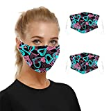 SHUANGA Mask Anti-Pollution poussière, Mask de fumée en Charbon Actif PM2,5 Mask Filtre à air, Mask de 10pcs Réutilisable Protection Faciale pour Enfant