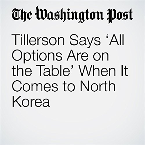 Tillerson Says 'All Options Are on the Table' When It Comes to North Korea copertina