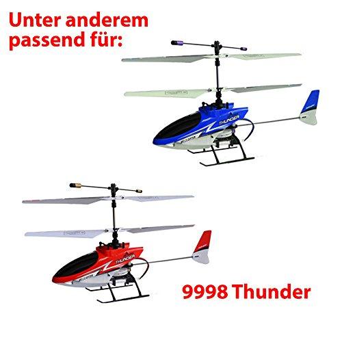 HSP Himoto 2 x Original Akku 120mAh 3,7V für den Thunder 9998 und 9958, Ersatzakku vom Hersteller, Helikopter-Modell, Ersatzteile