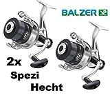 Balzer 2X Spezi 100 Hechtrolle mit Hechtschnur fertig bespult Paarpreis