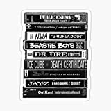 1990s Hip Hop Classic Cassette Tapes Sticker - Sticker Graphic - Auto, Wall, Laptop, Cell, Truck Sticker for Windows, Cars, Trucks