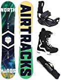 Airtracks Snowboard Set - Board North South 159 - Softbindung Master - Softboots Savage Black 44 - SB Bag