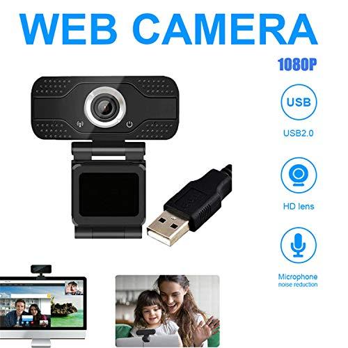 Nueva 1080p HD USB Webcam, Cámara de Computadora HD con Micrófono de Reducción de Ruido, Cámara de PC para Reuniones, Videollamadas del Curso en Línea