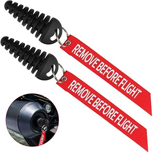 "Coitak Muffler Exhaust Wash Plug, 0.6""-1.5"" Wash Plug for Motorcycle Bike 2 Stroke Rubber Exhaust Silencer (2 Pack) (0.6""-1.5"")"