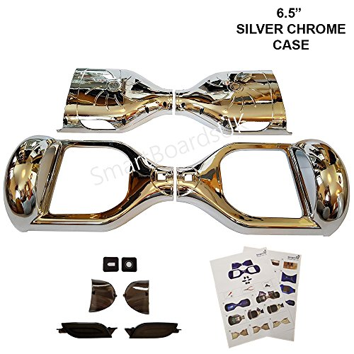 6.5 'Hoverboard Plastic Chrome e Design Shell's - Swegway Shell 6.5 pollici Frame 2 Wheel Smart Balance Scooter in plastica (CROMO ARGENTO)