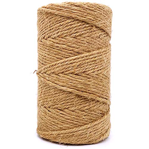 Buy Discount Jute Twine 3mm Thick 328 Feet Heavy Duty Natural Jute Rope String for Home Gardening Pl...