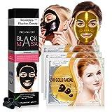 Blackhead remover Gold Face Mask - Charcoal Peel Off Mask & Skin Moisturizer 24k Gold Mask Remove...