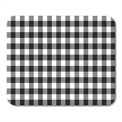 Mousepad Pattern Black White Checkerboard Check Chess Abstract Celtic Checked Mouse pad 25X30cm Stitched Edges