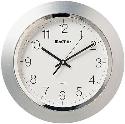 Dainolite 29012-MT-SV Quartz Clock with Plastic Face, 14-Inch,