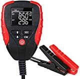 eOUTIL 12V Car Battery Tester, Auto Battery Load Analyzer with LCD Display - Test Battery Life Percentage,Voltage, Resistance and CCA Value (AE310-1)