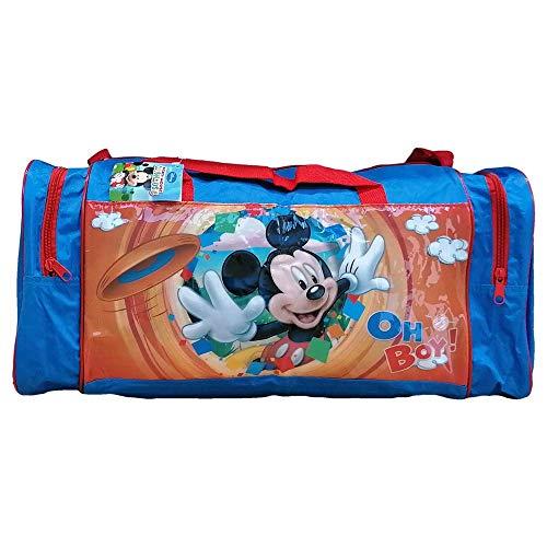 Borsone Topolino Mickey Mouse Disney Borsa da Viaggio Palestra 2 Tasche Laterali CM. 44X25X21 - AS9367/B