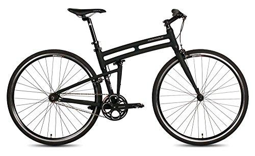 New Montague Boston Folding 700c Pavement Hybrid Bike Matte Black 19'