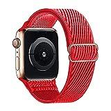 Lobnhot Solo Loop kompatibel mit Apple Watch Armband 38mm 40mm, verstellbares elastisches Nylon...