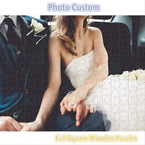 QWESD Foto Personalizada 1000 Piezas de Madera Rompecabezas Personalizado Imagen Cuadrada Completa Juguetes de Bricolaje para Adultos decoración Coleccionable