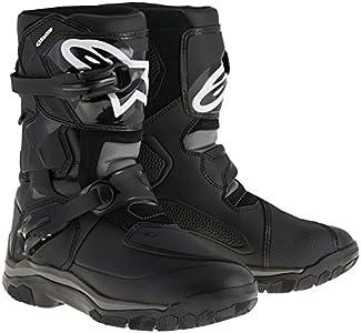 2047117 10 12 - Alpinestars Belize DryStar Leather Motorcycle Boots US 12 Black (UK 11)