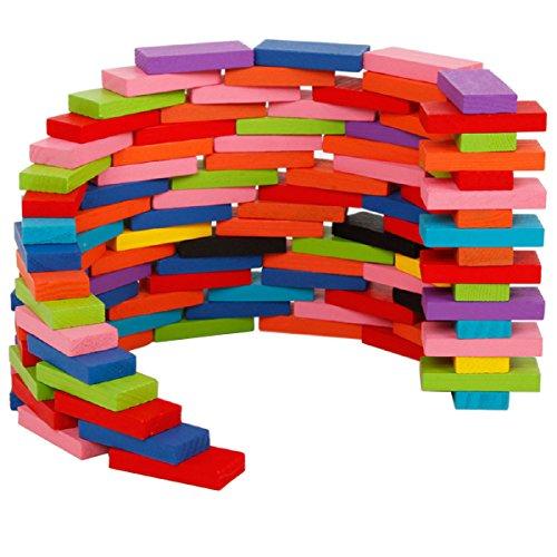 Megadream Mattoncini per costruzioni, Costruzioni e mattoncini 240pz, Particelle elementari di legno dei bambini stabiliti educativi Giocattoli giocattolo Impilamento