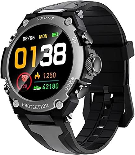 wyingj Hombres s Reloj Inteligente Bluetooth Música Altitud Reloj de Buceo IP68 Impermeable Fitness Deportes Reloj Tiempo al aire libre Reloj Inteligente-B
