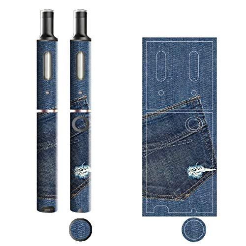 電子たばこ タバコ 煙草 喫煙具 専用スキンシール 対応機種 プルームテックプラスシール Ploom Tech Plus シール Jeans デニム モチーフコレクション 03 ポケットA 21-pt08-2133