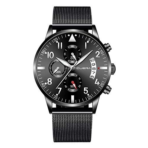 2020 Spring Deals ! Men Stainless Steel Luxury Military Analog Sport Quartz Mens Wrist Watch Under 5 Best Gifts for Lovers
