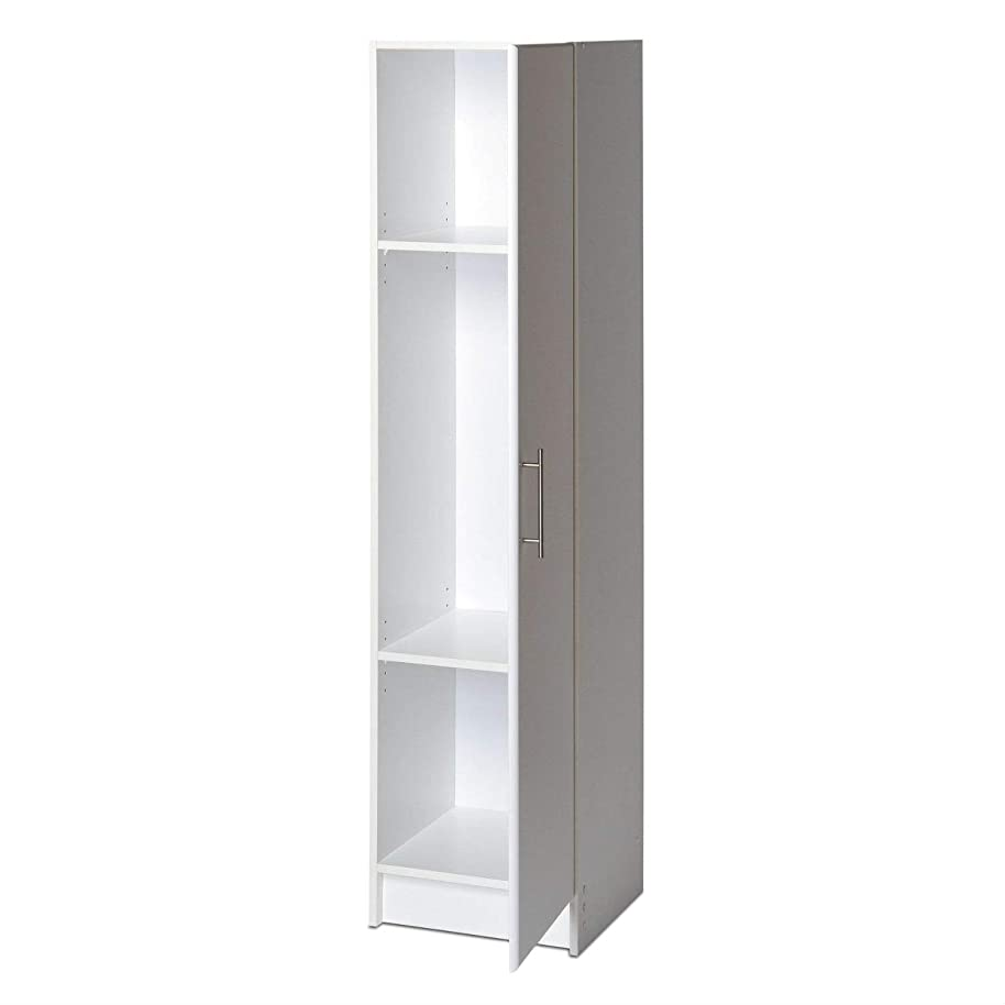 Swag Pads White Tall Storage Cabinet for Brooms and Mops