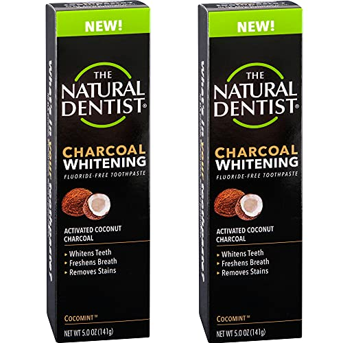 Natural Dentist Charcoal Whitening Toothpaste, 5 Ounce Tube (Pack of 2)