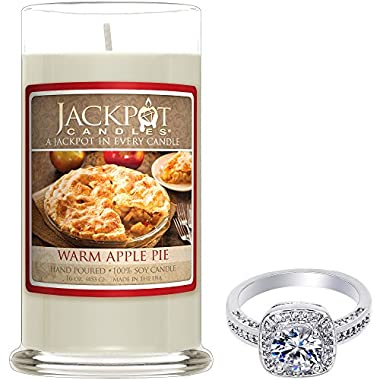 Warm Apple Pie Candle with Ring Inside (Surprise Jewelry Valued at 15 to 5,000) Ring Size 7