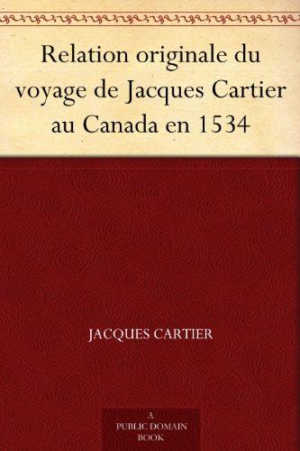 Couverture du livre Relation originale du voyage de Jacques Cartier au Canada en 1534