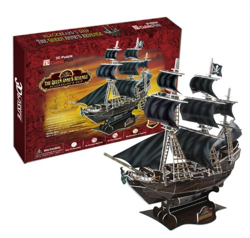 Queen Ann's Revenge issue of 3D three-dimensional puzzle pirate Blackbeard (japan import)