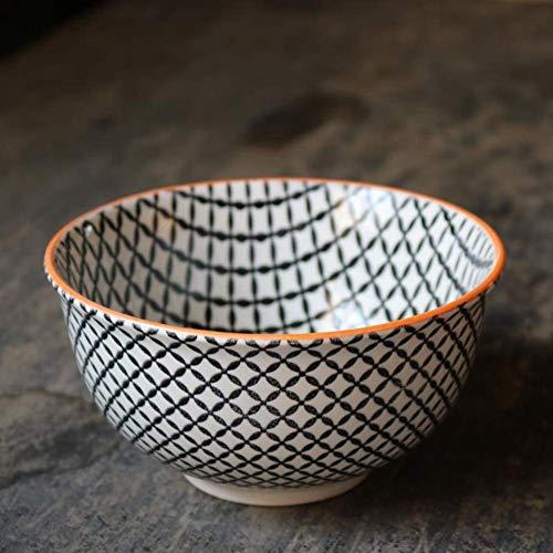 aedouqhr Tazón de Cereales de 6 Pulgadas Vajilla de cerámica Impresión en Relieve Viento mediterráneo Postre Ensaladera Apto para lavavajillas, 26 Estilos (Color: #J)