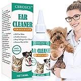 CBROSEY Ohrenreiniger Hund,Ohrreiniger für Hunde,Dog Ear Cleaner,Ohrenschmalz Reiniger Halt Juckreiz Geruch Milben und Wachs Entfernen