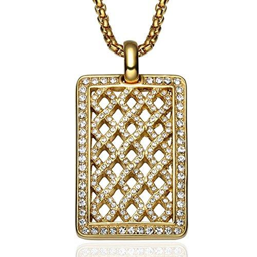 Luziang Incrustaciones de Diamantes de Marca de la Perro Tipo Red Oro...