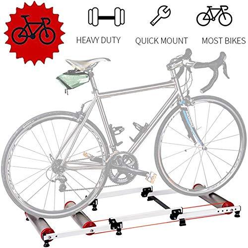 Fietstrainer opvouwbaar – trainingswielen voor training, opvouwbaar, voor fietsen op de weg, materiaal: aluminiumlegering, stille rol, voor fietsen 700 C