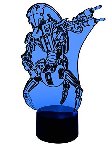 originelle 3d lámpara LED Lucha Droide droideka como más colores de lámpara de mesa lámpara de mesa Wohnlicht en el Salón habitación de los Niños