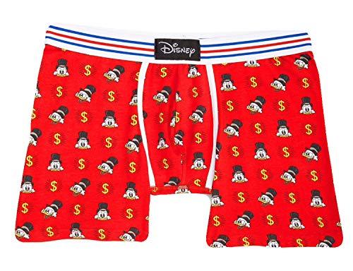 Disney Young Men's Donald Duck & Scrooge Boxer Brief Sleep Shorts, Medium