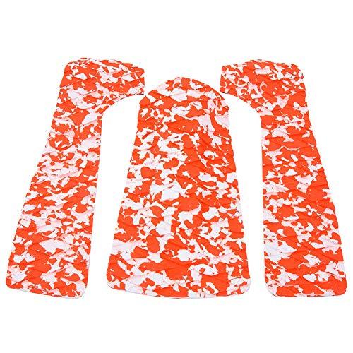 Andraw Cubierta de Surf de EVA, Almohadilla de Tabla de Surf Antideslizante 1 Juego de Almohadilla de Tabla de Surf,(Red and White Camouflage)