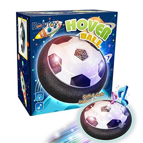 Rolytoy - Ballon de football flottant pour enfant avec LED et musique - Version Anglaise