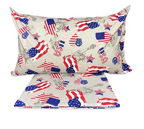 Tex family Copripiumino Bandiera America Americana Dis. Flag - 1 Piazza E Mezza CM. 200X200