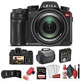 Leica V - Lux 5 Digital Camera (19121) + 64GB Extreme Pro Card + Card Reader + Case + Cleaning Set + Memory Wallet - Starter Bundle