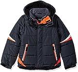LONDON FOG Boys' Big Active Puffer Jacket Winter Coat, Super Grey, 8