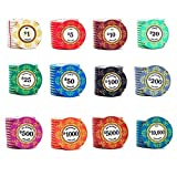 TX GIRL 1Pc Ceramics Poker Chips Hundred Chips Mahjong Family Music Flower Poker Family Music Texas Poker Chips 39mm*3.3mm (Color : 5)