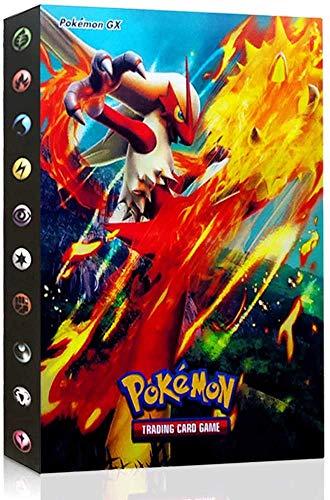 Funmo Álbum de Pokemon, Pokemon Cartas Álbum, GX y EX Cartas Pokemon Álbum, Álbum Titular de Tarjetas Pokémon Carpeta Carpeta Libro 30 páginas 240 Tarjetas Capacidad (Verde Dragón de Fuego)