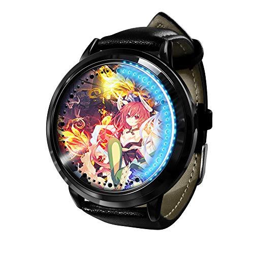 Anime Dating Battle Impermeable LED Pantalla táctil Luminoso Reloj Neutral Digital Reloj Cosplay Regalo Nuevo Reloj Regalo para niños-B