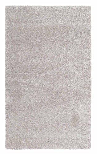 Zottelteppich Kuschelteppich Maschinenwebteppich Teppich | 120x170 cm | Creme