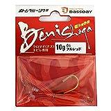 Bassday(バスデイ) ワーム 紅ショウガ 10g #01 フルレッド.